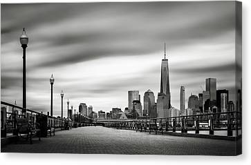 Boardwalk Into The City Canvas Print