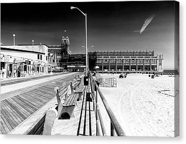 Canvas Print - Boardwalk Lines by John Rizzuto