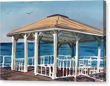 Boardwalk Pavillion Canvas Print by Donald Maier