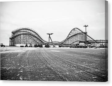 Boardwalk Roller Coaster - Great White - Wildwood Nj Canvas Print