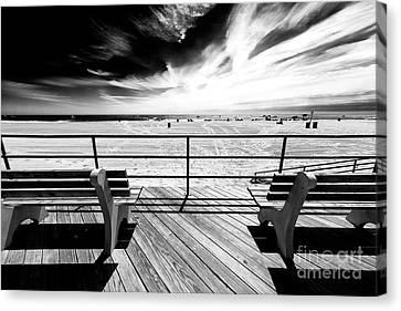 Canvas Print - Boardwalk Shadows by John Rizzuto
