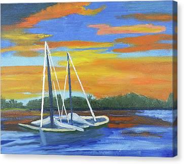 Boat Adrift Canvas Print by Margaret Harmon