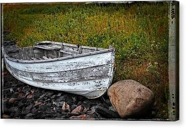 Boat Art - Washed Ashore - By Sharon Cummings Canvas Print by Sharon Cummings