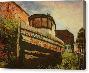 Boat At Apalachicola Canvas Print by Toni Hopper