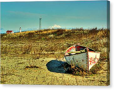 Boat At Point Wilson Canvas Print by Dale Stillman
