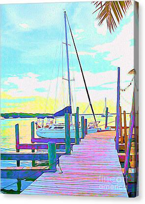 Surf Lifestyle Canvas Print - Boat At Sunset I by Chris Andruskiewicz