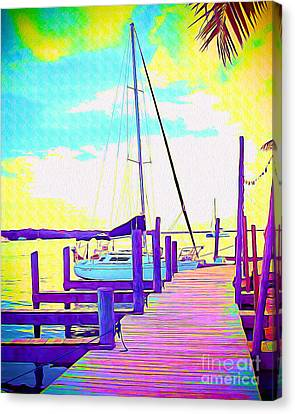 Surf Lifestyle Canvas Print - Boat At Sunset II by Chris Andruskiewicz