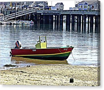 Boat At The Beach Provincetown Canvas Print