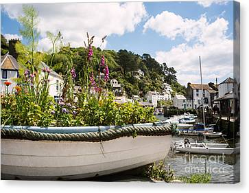 Boat Filled With Flowers Canvas Print