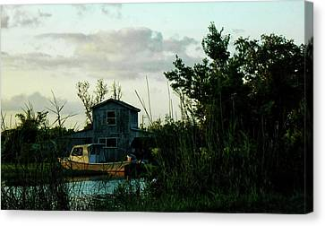 Boat House Canvas Print by Cynthia Powell