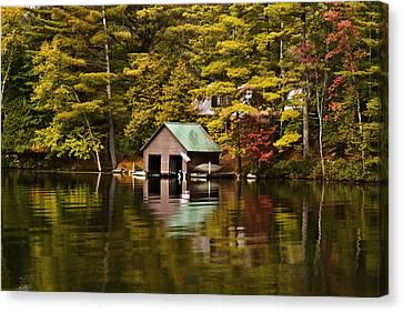 Boat House Canvas Print by David Simons