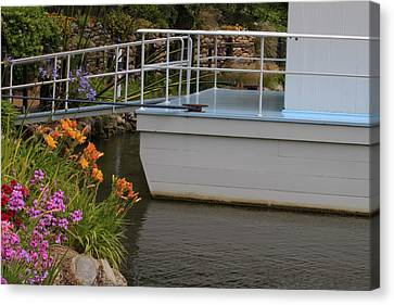 Canvas Print featuring the photograph Boat House by Ivete Basso Photography