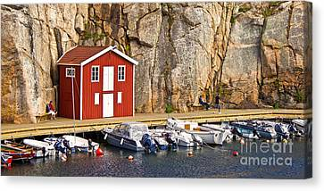 Boat House Canvas Print by Lutz Baar