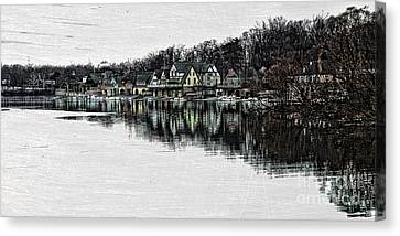 Kelly Drive Canvas Print - Boat House Row by Tom Gari Gallery-Three-Photography
