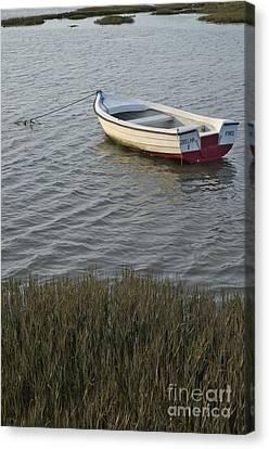 Boat In Ria Formosa - Faro Canvas Print by Angelo DeVal