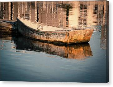 Boat In The Harbor Canvas Print
