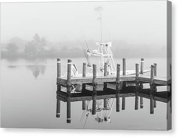 Canvas Print featuring the photograph Boat In The Sounds Alabama  by John McGraw