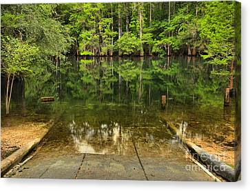 Boat Launch At Manatee Springs Canvas Print
