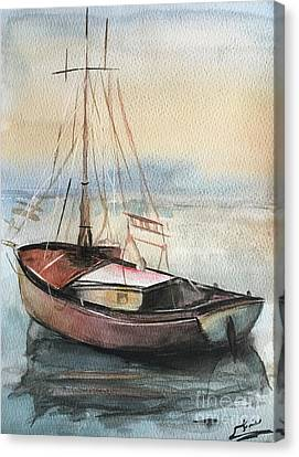 Boat Canvas Print by Menna Yasser