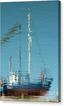 Canvas Print featuring the photograph Boat Of Ripples by Wendy Wilton