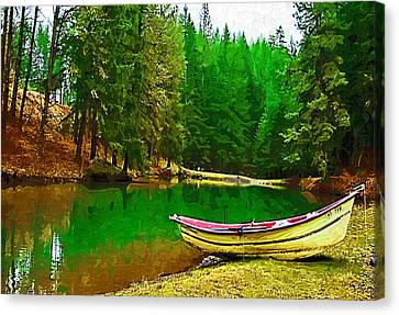 Boat Of The Lake Canvas Print by Dale Stillman