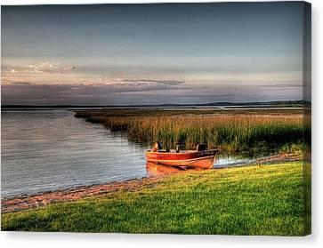 Boat On A Minnesota Lake Canvas Print