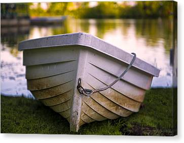 Boat On Land Canvas Print