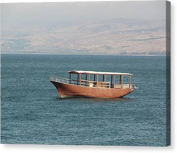Gospel Of Matthew Canvas Print - Boat On Sea Of Galilee by Brian Tada