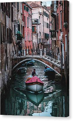 Canvas Print - Boat On The River by Okan YILMAZ