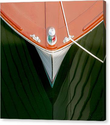 Boat Reflection Canvas Print by Charles Harden