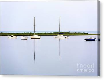 Boat Reflections Canvas Print by John Rizzuto