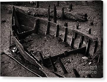 Boat Remains Canvas Print by Carlos Caetano