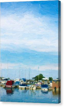 Boat Scene 1 Canvas Print by Chamira Young