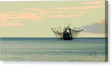 Boat Series 30 Shrimp Boat Gulf Of Mexico Louisiana Canvas Print