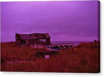 Boat Shed Blues Canvas Print by Stuart Parnell