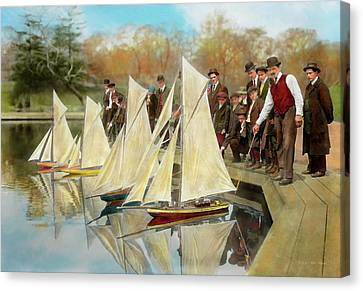 Boat - Sorry Kids This Ones Mine 1910 Canvas Print by Mike Savad