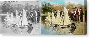 Boat - Sorry Kids This Ones Mine 1910 - Side By Side Canvas Print by Mike Savad