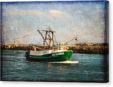Boat Texture Manasquan Inlet Canvas Print by Angel Cher