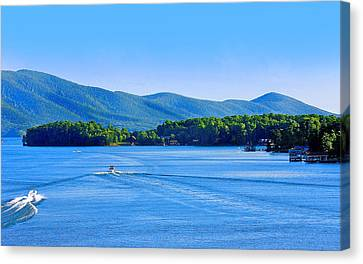 Boaters On Smith Mountain Lake Canvas Print by The American Shutterbug Society