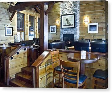Boathouse Restaurant Canvas Print by Michael Rutland