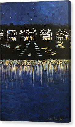 Boathouse Row Canvas Print