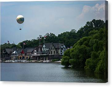 Kelly Drive Canvas Print - Boathouse Row With Zoo Balloon Philadelphia by Terry DeLuco