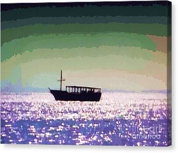 Boating Home Canvas Print by Deborah MacQuarrie-Selib