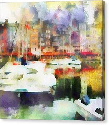 Boating In Honfleur Canvas Print