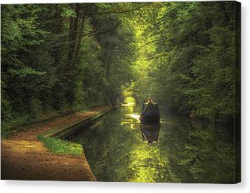 Boating In Solihull Canvas Print