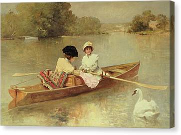 Boating On The Seine Canvas Print