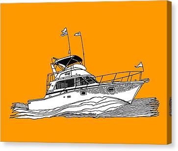 Boating Tee Shirt Canvas Print by Jack Pumphrey