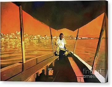 Boatman Guatemala Canvas Print