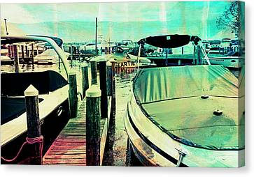 Canvas Print featuring the photograph Boats And Dock by Susan Stone