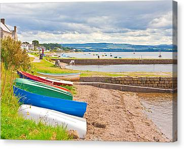 Boats At Findhorn Canvas Print by Tom Gowanlock